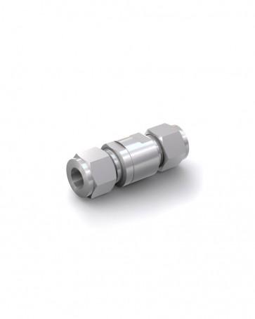 Valvola di ritegno acciaio inox - Doppia ogiva tubo Ø 12 mm / Doppia ogiva tubo Ø 12 mm - max. 350 bar - DN 6 mm