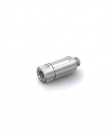 "Valvola di ritegno acciaio inox - G1/2"" maschio / G1/2"" femmina - max. 250 bar - DN 14 mm"