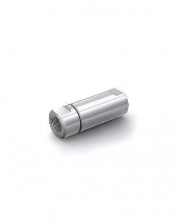 "Valvola di ritegno acciaio inox - G1/2"" femmina / G1/2"" femmina - max 250 bar - DN 14 mm"