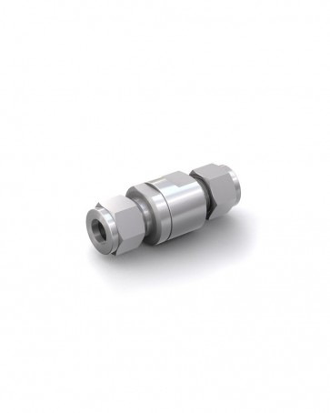 Valvola di ritegno acciaio inox - Doppia ogiva tubo Ø 10 mm / Doppia ogiva tubo Ø 10 mm - max. 150 bar - DN 6 mm