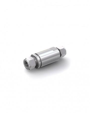 Valvola di ritegno acciaio inox - Doppia ogiva tubo Ø 16 mm / Doppia ogiva tubo Ø 16 mm - max. 350 bar - DN 14 mm