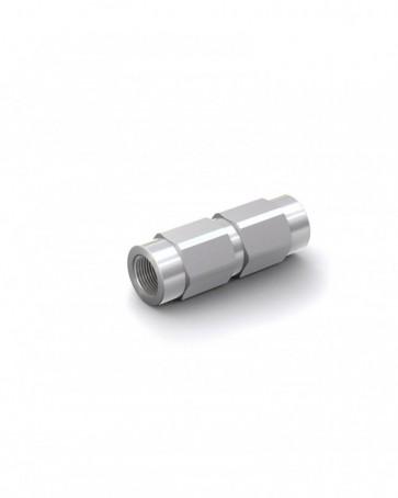 """Valvola di ritegno acciaio zincato - G1/8"""" interna / G1/8"""" interna - max. 300 bar - DN 4 mm"""