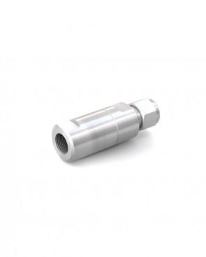 "Valvola di ritegno acciaio inox - Doppia ogiva tubo Ø 10 mm / UNEF 9/16""-24 femmina - max. 350 bar - DN 6 mm"