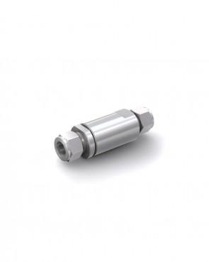 Valvola di ritegno acciaio inox - Doppia ogiva tubo Ø 16 mm / Doppia ogiva tubo Ø 16 mm - max. 150 bar - DN 14 mm