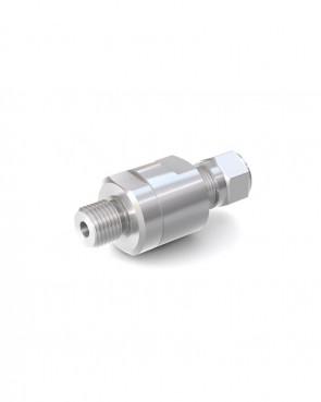"Valvola di ritegno acciaio inox - Doppia ogiva tubo Ø 8 mm / G1/4"" maschio - max. 150 bar - DN 6 mm"
