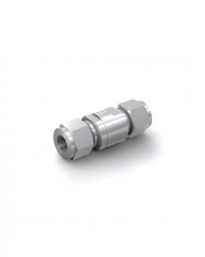 Valvola di ritegno acciaio inox - Doppia ogiva tubo Ø 12 mm / Doppia ogiva tubo Ø 12 mm - max. 150 bar - DN 6 mm