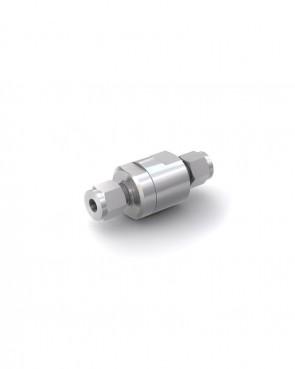 Valvola di ritegno acciaio inox - Doppia ogiva tubo Ø 6 mm / Doppia ogiva tubo Ø 6 mm - max. 350 bar - DN 5 mm