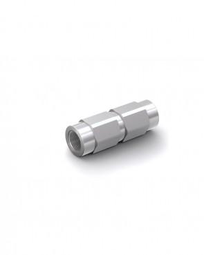 """Valvola di ritegno acciaio zincato - G1/4"""" interna / G1/4"""" interna - max. 300 bar - DN 6 mm"""