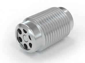 "Valvola di ritegno acciaio inox - G1/8"" maschio / G1/8"" maschio - max. 250 bar - DN 3,6 mm"